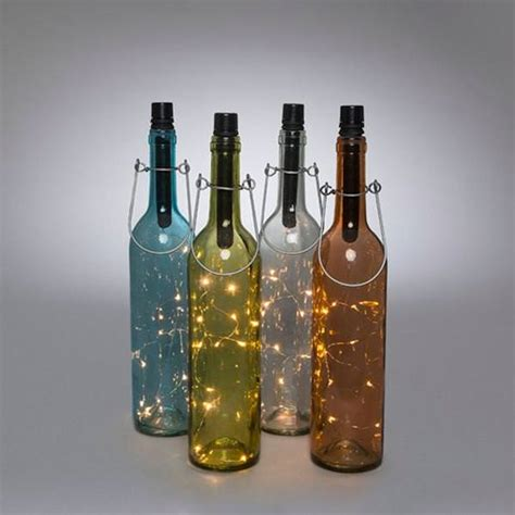 wine bottle battery operated lights gerson 93245 wine bottle