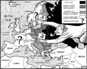 Cold War Iron Curtain 4 11 13 Cold War Political Cartoons Miss Schlegel S