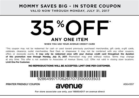 Avenue Printable Coupons avenue coupons printable coupons in store coupon codes