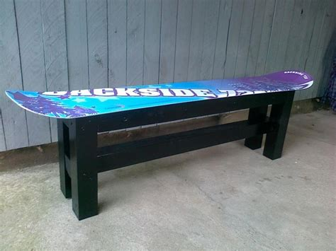 how to build a snowboard bench snowboard bench yup doin this