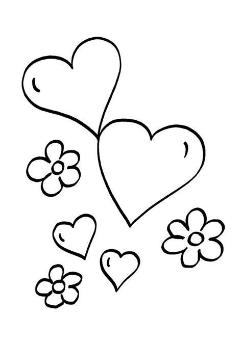 imagenes de rosas y corazones para colorear corazones y flores dibujo para colorear e imprimir