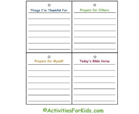 free prayer card templates for 8 5 x 10 child s prayer journal printable prayers journal and