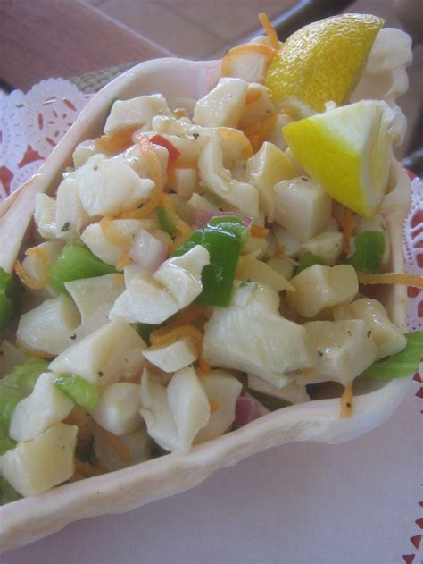 couch salad conch salad the bahamas pinterest