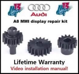 audi a8 mmi screen repair kit 3 pcs replacement gears