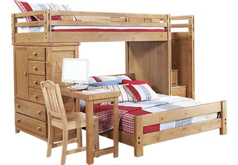 Bunk Bed W Desk Creekside Taffy Step Bunk Bed W Desk And Chest Bunk Beds