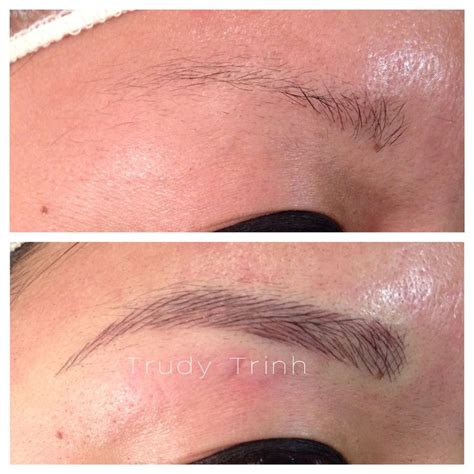 tattoo eyebrows techniques semi permanent makeup hairstroke technique for eyebrows