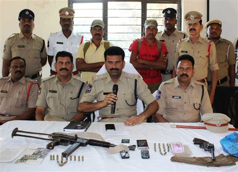 section 384 of ipc cpi ml nd members caught with weapons in mahabubabad