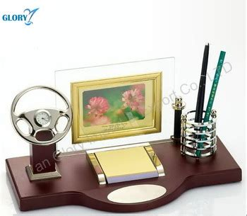 Gifts For The Office Desk Car Model Design Wood Clock With Pen Stand For Office Desk Set Gifts Buy Wood Clock With Pen