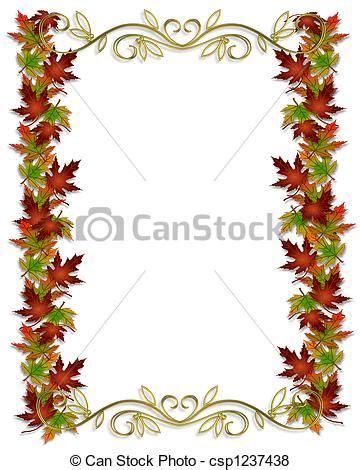 clipart cornici archivio illustrazioni di autunno foglie bordo cornice
