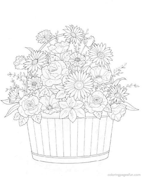 coloring pages flowers bouquet printable flower coloring page az coloring pages