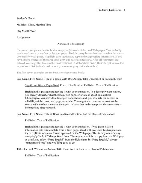 Bibliography For Essay by Annotated Bibliography Thesis Exle