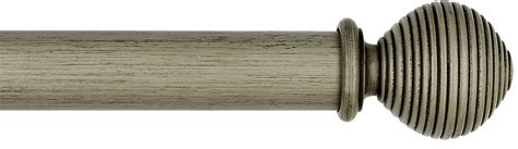 grey wooden curtain poles byron byron barnwood 35mm 45mm 55mm wood curtain pole