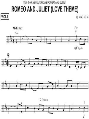 romeo and juliet love theme sheetzbox download digital sheet music of romeo for viola