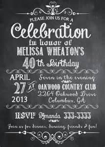 chalkboard birthday party invitation printable