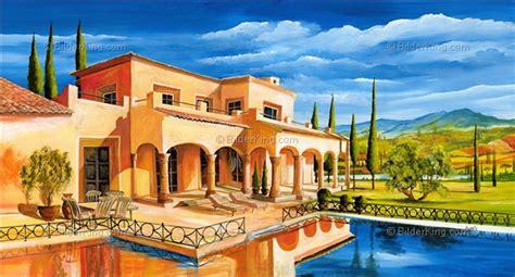 mediterrane wandbilder wandbild morro mediterrane villa mit pool