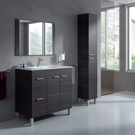 muebles tu mueble mueble ba 241 o de 80 cm con columna de ba 241 o espejo y lavabo