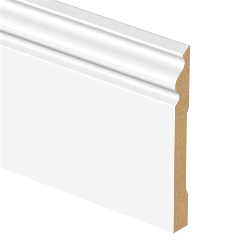 decorative trim home depot zamma white 9 16 in thick x 6 1 4 in wide x 94 in