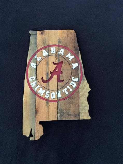 state  alabama   crimson tide painting  cut