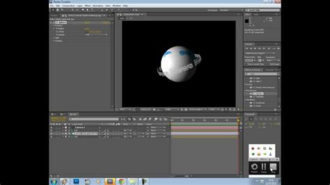 tutorial after effect text revolving text around a sphere after effects tutorial