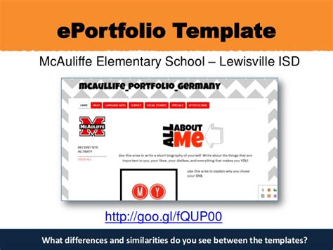 Eportfolios For Authentic Assessment E Portfolio Templates