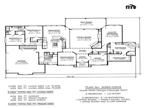 3 bedroom floor plans with basement 3 bedroom 2 story home floor plans basement bedrooms