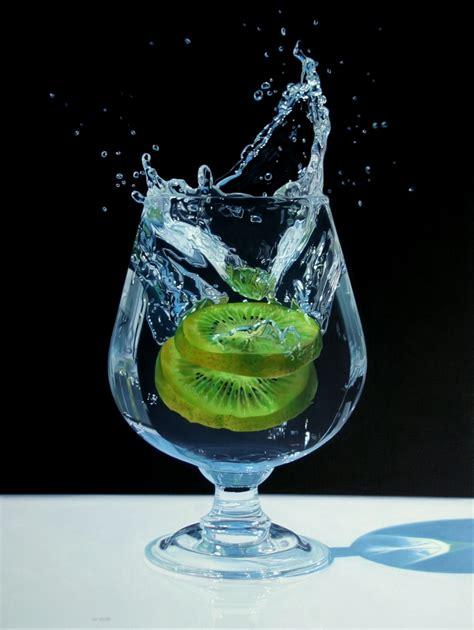 acrylic painting glass hyperralistic paintings by jason de graaf