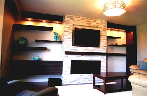 decor ideas modern fireplace design with mounting tv above