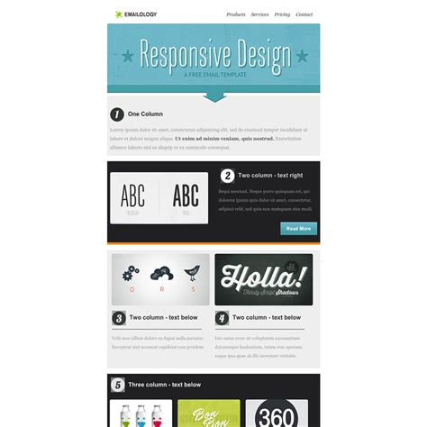 Product Email Template by Emailology Free Responsive Email Template
