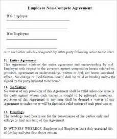 non competition clause template non compete agreement 7 free pdf doc
