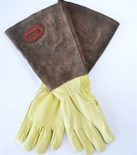 personalised gauntlet gardening gloves by