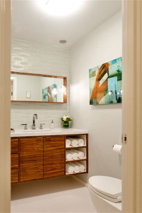 Zebra Bathroom Decorating Ideas Zebra Wood Vanity Contemporary Powder Room San