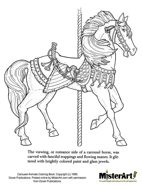 coloring pages of carousel horses free coloring page carousel animals coloring book
