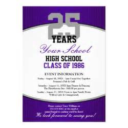 customizable class reunion 5x7 paper invitation card zazzle