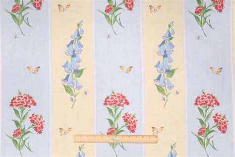 waverly drapery fabric waverly misty meadow printed cotton drapery fabric in sunshine
