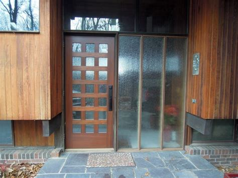 glass panel beside front door 18 neat modern glass door designs