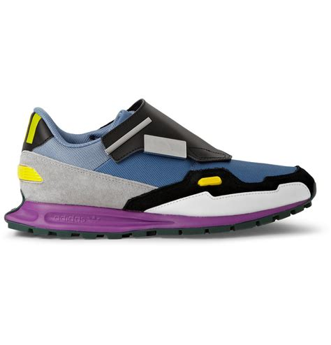 Raf Simons Shoes Blue by Raf Simons Leather And Mesh Sneakers In Multicolor For Blue Lyst