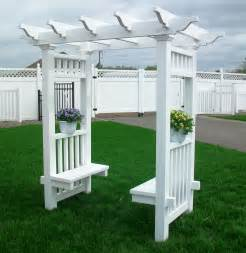 Arbor Bench Plans Vinyl Arbor And Gazebo 3 Woodworking Plans Pinterest