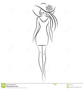 Fashion Model Outline by Fashion Model Stock Vector Image 57143345