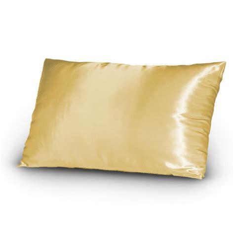 silky satin bed pillowcase set king size gold ebay
