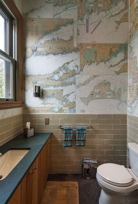 Decoupage Bathroom - craft your style decoupage and decorate with custom wallpaper