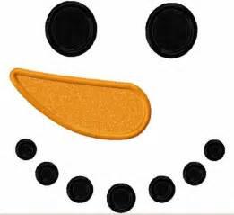 Printable snowman face pattern