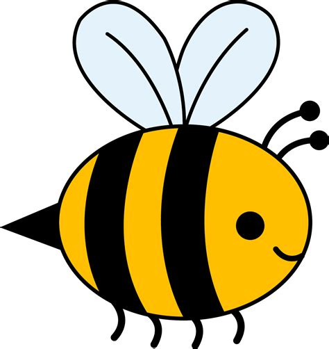 Bees Clip bee clipart black and white clipart panda free clipart