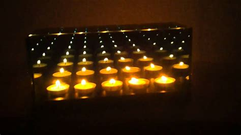 infinity candle mirror infinity mirror candle box 5 candle