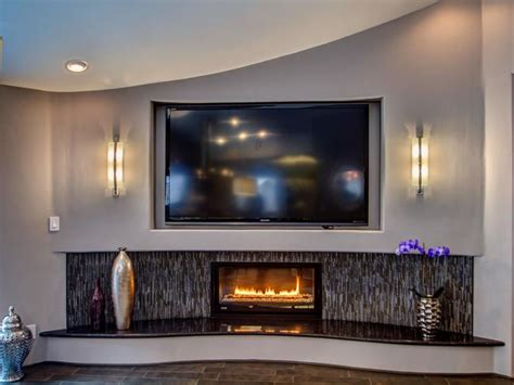 home 2016 pool contemporary gas fireplace black