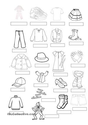 design clothes worksheet 7 best images of free printable esl vocabulary worksheets