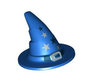 lego blue wizard wizard hat older style with smooth