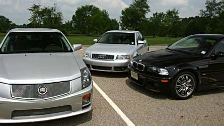 theory the people at the end of cadillac s christmas cadillac cts v takes on the bmw m3 and the audi s4