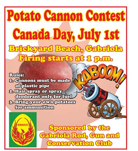 contest 2014 canada gabriola sounder news news potato cannon