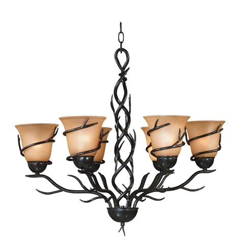 light twigs twigs 6 light bronze chandelier 90900brz the home depot