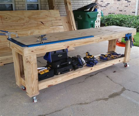 custom work bench custom workbench w kreg jigs 9 steps with pictures